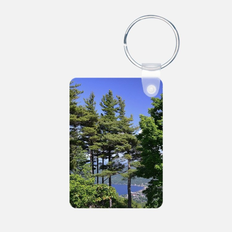 On Top Of Lake George by C Keychains