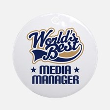 Media manager Ornament (Round)