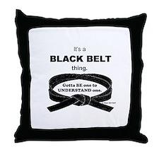 Black Belt Thing Throw Pillow