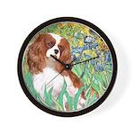 Irises & Cavalier Wall Clock