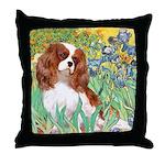 Irises & Cavalier Throw Pillow