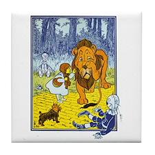 Wizard of Oz - Cowardly Lion Tile Coaster