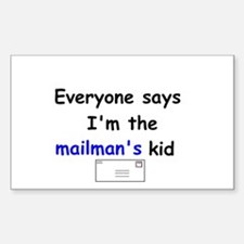 MAILMAN'S KID HUMOR Rectangle Decal