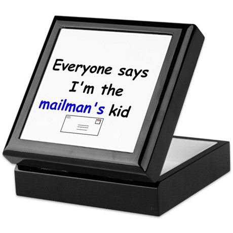 MAILMAN'S KID HUMOR Keepsake Box