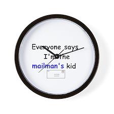MAILMAN'S KID HUMOR Wall Clock