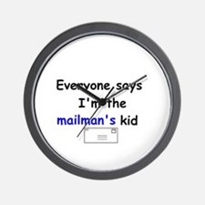 MAILMAN'S KID HUMOR Wall Clock