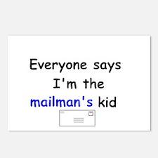 MAILMAN'S KID HUMOR Postcards (Package of 8)