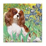 Irises & Cavalier Tile Coaster