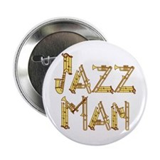 Jazz man sax saxophone Button