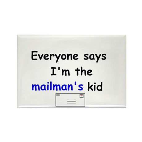 MAILMAN'S KID HUMOR Rectangle Magnet (10 pack)