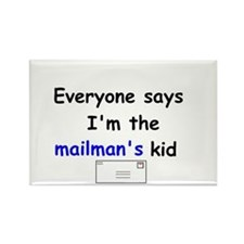 MAILMAN'S KID HUMOR Rectangle Magnet