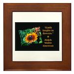 Earth Laughs in Flowers Framed Tile