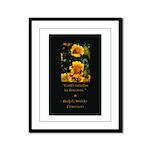 Earth Laughs in Flowers Framed Panel Print