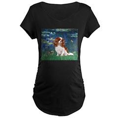 Lily Pond (#5) / Cavalier Maternity Dark T-Shirt