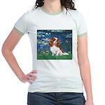 Lily Pond (#5) / Cavalier Jr. Ringer T-Shirt