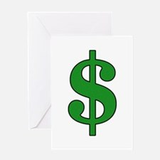 Dollar Sign Greeting Card