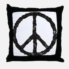 'Vintage' Peace Symbol Throw Pillow