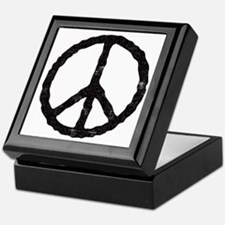 'Vintage' Peace Symbol Keepsake Box