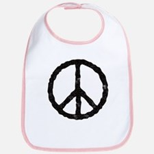 'Vintage' Peace Symbol Bib