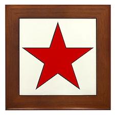 Red Star Framed Tile