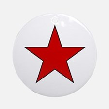 Red Star Ornament (Round)