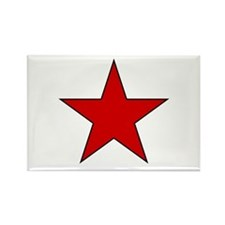 Red Star Rectangle Magnet