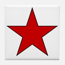 Red Star Tile Coaster