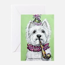 Birthday Westie Greeting Cards
