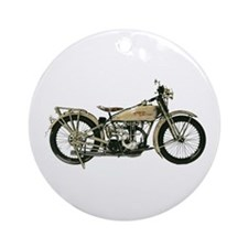 1926 Motorcycle Ornament (Round)