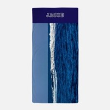 Waves Personalized Beach Towel