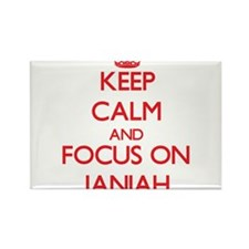 Keep Calm and focus on Janiah Magnets