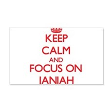 Keep Calm and focus on Janiah Wall Decal