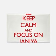 Keep Calm and focus on Janiya Magnets