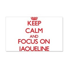 Keep Calm and focus on Jaqueline Wall Decal