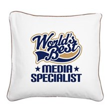 Media specialist Square Canvas Pillow