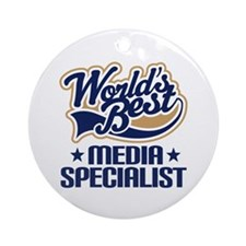 Media specialist Ornament (Round)