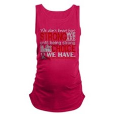 Parkinsons How Strong We Are Maternity Tank Top