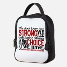 Parkinsons How Strong We Are Neoprene Lunch Bag