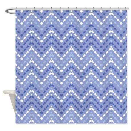 Chevron Drops Pattern Shower Curtain By MainstreetHomewares