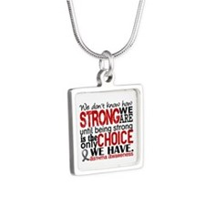 Asthma How Strong We Are Silver Square Necklace