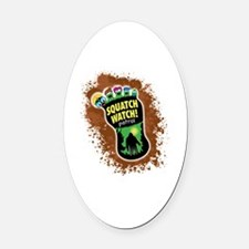 Bigfoot Oval Car Magnet