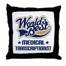 Medical transcriptionist Throw Pillow