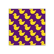 Purple and Yellow Rubber Duck, Ducky Sticker