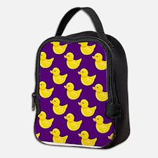 Purple and Yellow Rubber Duck, Ducky Neoprene Lunc