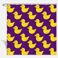 Purple and Yellow Rubber Duck, Ducky Shower Curtai