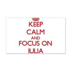 Keep Calm and focus on Julia Wall Decal