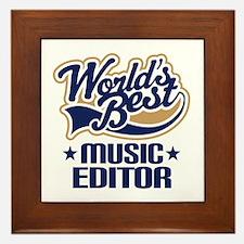 Music editor Framed Tile