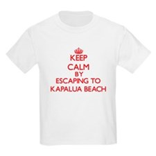 Keep calm by escaping to Kapalua Beach Hawaii T-Sh