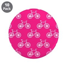 """White Bicycle, Cycling Pattern; Neon Pink 3.5"""" But"""