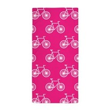 White Bicycle, Cycling Pattern; Neon Pink Beach To